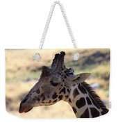 Closeup Of Giraffe Weekender Tote Bag