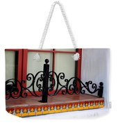 Closeup Of Window Decorated With Terracotta Tiles And Wrought Iron Photograph By Colleen Weekender Tote Bag