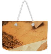 Closeup Toned Image Of Paper Boats On World Map Weekender Tote Bag