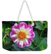 Closeup View Of A Dahlia That Was In The Cesky Krumlov Castle Gardens Weekender Tote Bag