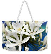 Closeup White Californian Flower Weekender Tote Bag