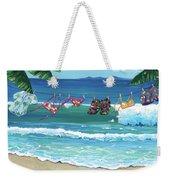 Clothesline At The Beach Weekender Tote Bag