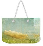 Cloud And Sky On Postcard Weekender Tote Bag