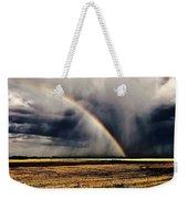 Cloud Burst And Rainbow Early Spring Storm Weekender Tote Bag