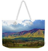 Cloud Covered Peaks Weekender Tote Bag