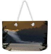Cloud Fall On Crescent Lake Weekender Tote Bag