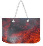 Cloud Fire With Rays Weekender Tote Bag