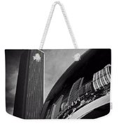 Cloud Gate And Aon Center Black And White Weekender Tote Bag
