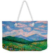 Cloud Swirl Over The Peaks Of Otter Weekender Tote Bag