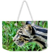 Clouded Leopard In The Grass Weekender Tote Bag