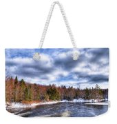 Clouds Above The Lock And Dam Weekender Tote Bag