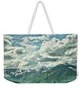 Clouds Alaska Mtns  Weekender Tote Bag