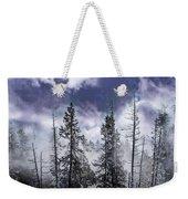 Clouds And Snow Swirling Weekender Tote Bag