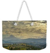 Clouds And Sun Rays Over Mount Hood And Hood River Oregon Weekender Tote Bag