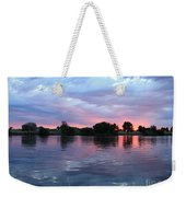 Clouds And Sunset Reflection In Prosser Weekender Tote Bag