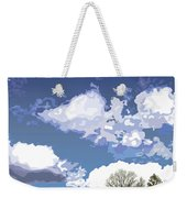 Blue Afternoon Weekender Tote Bag