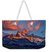 Clouds Around Fitz Roy - Patagonia Weekender Tote Bag
