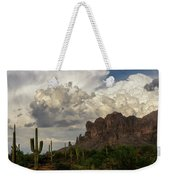 Clouds Bubbling Over The Superstitions  Weekender Tote Bag