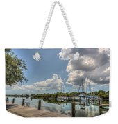 Clouds Down The Bay Weekender Tote Bag