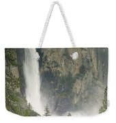 Clouds Hang Over Bridaveil Falls Weekender Tote Bag