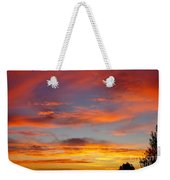 Clouds On Fire Weekender Tote Bag