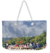 Clouds Over Boathouse Row Weekender Tote Bag