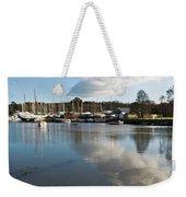 Clouds Over Cockwells Boatyard Mylor Bridge Weekender Tote Bag