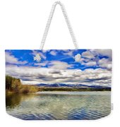 Clouds Over Distant Mountains Weekender Tote Bag