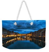 Clouds Over Ponte Vecchio Weekender Tote Bag