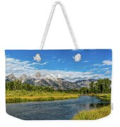 Clouds Over The Grand Tetons Weekender Tote Bag