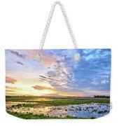 Clouds Over The Marsh 4 Weekender Tote Bag