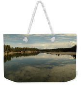 Clouds Reflecting In An Alpine Lake.  Weekender Tote Bag