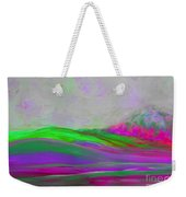 Clouds Rolling In Abstract Landscape Purple And Hot Pink Weekender Tote Bag