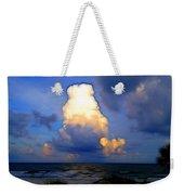 Cloudy Beach Weekender Tote Bag
