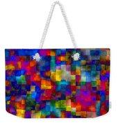 Cloudy Cubes Weekender Tote Bag