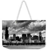 Cloudy Day Chicago - 2 Weekender Tote Bag