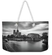 Cloudy Day On The Seine Weekender Tote Bag