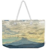 Cloudy Day Over Mount Hood At Hood River Oregon Weekender Tote Bag