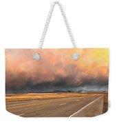 Cloudy Highway Weekender Tote Bag