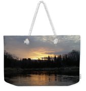 Cloudy Mississippi River Sunrise Weekender Tote Bag