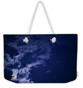 Cloudy Moon With Jupiter Weekender Tote Bag
