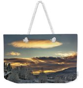 Cloudy Mothership Weekender Tote Bag