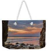 Cloudy Sunset At Low Tide Weekender Tote Bag