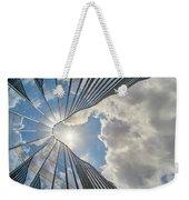 Cloudy Waves Weekender Tote Bag