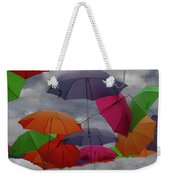 Cloudy With A Chance Of Umbrellas Weekender Tote Bag