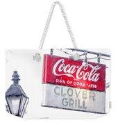 Clover Grill Coke Sign Weekender Tote Bag