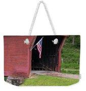 Clover Hollow Covered Bridge 01 Weekender Tote Bag