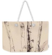 Clump Of Birch In Winter Weekender Tote Bag