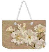 Cluster Of White Roses Posterized Weekender Tote Bag