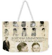 Clyde Barrow Mugshot Weekender Tote Bag